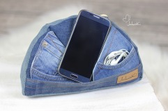 """Handyhalter """"Hügelbert"""" groß, Upcycling-Modell mit Taschen von JakoKi"""